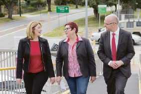 Rita Saffioti, Maylands MP Lisa Baker, Mt Lawley candidate Simon Millman.