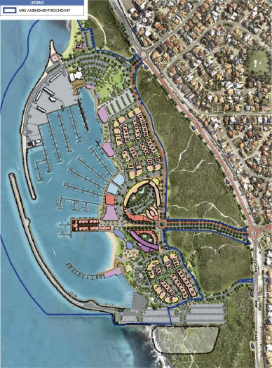 A concept plan of the Ocean Reef Marina