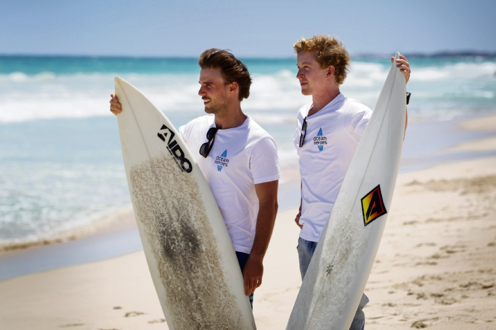 Luke Hallam and Sam Moyle, Ocean Heroes directors. Picture: Andrew Ritchie