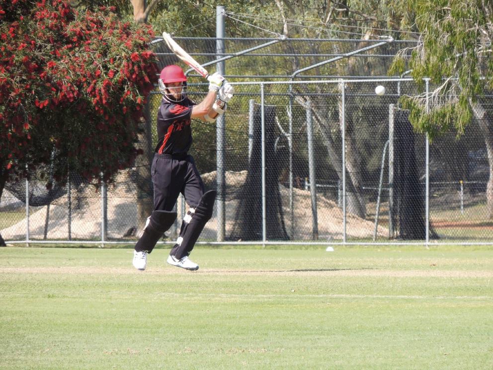 Perth batsman Jacob Snadden scored a half- century against Mt Lawley.
