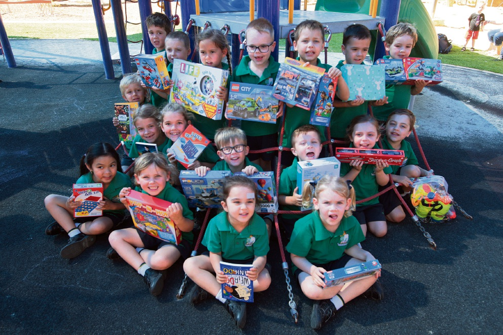Aiden Doughty has got his kindy mates to donate to The Smith Family Appeal.Picture: Bruce Hunt www.communitypix.com.au   d462440