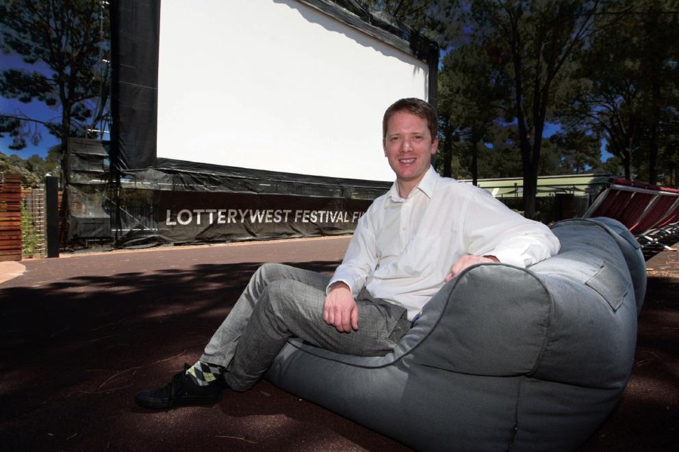 Lotterywest Festival Films program manager Tom Vincent at Joondalup Pines. Picture: Bruce Hunt  d462438