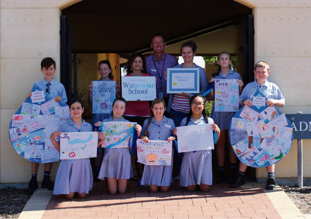 St Andrew's Catholic Primary School students celebrate 10 years as a waterwise school.