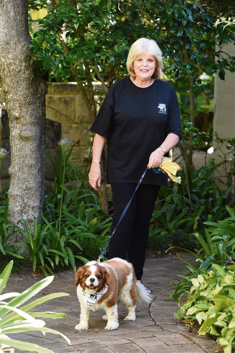 Marsha Sullivan with Misty. Picture: Jon Hewson
