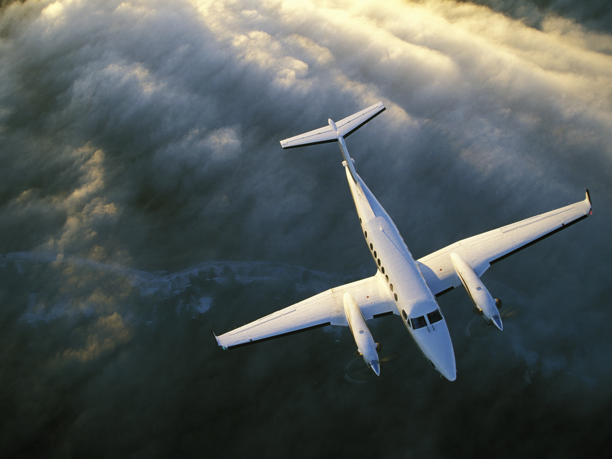 A King Air 350, the type of plane that will flyover tomorrow. Picture: Getty