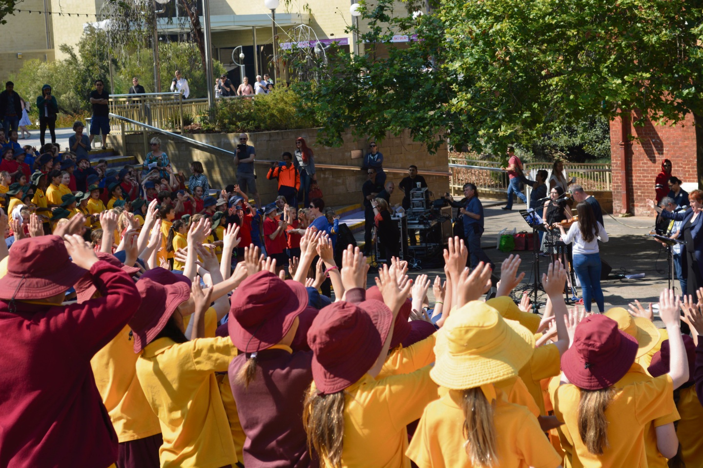 Hundreds of students gathered in Perth to sing a song as part of Music: Count Us In.