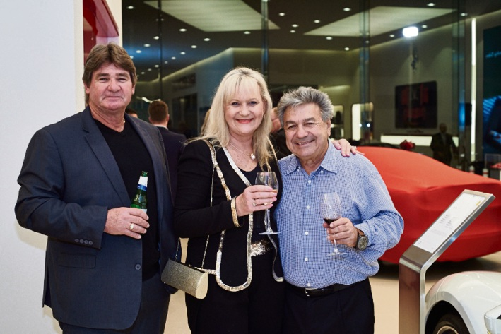 Sharon Kais with her husband Dave (left) and Bob Barbagallo at the Belmont business awards.