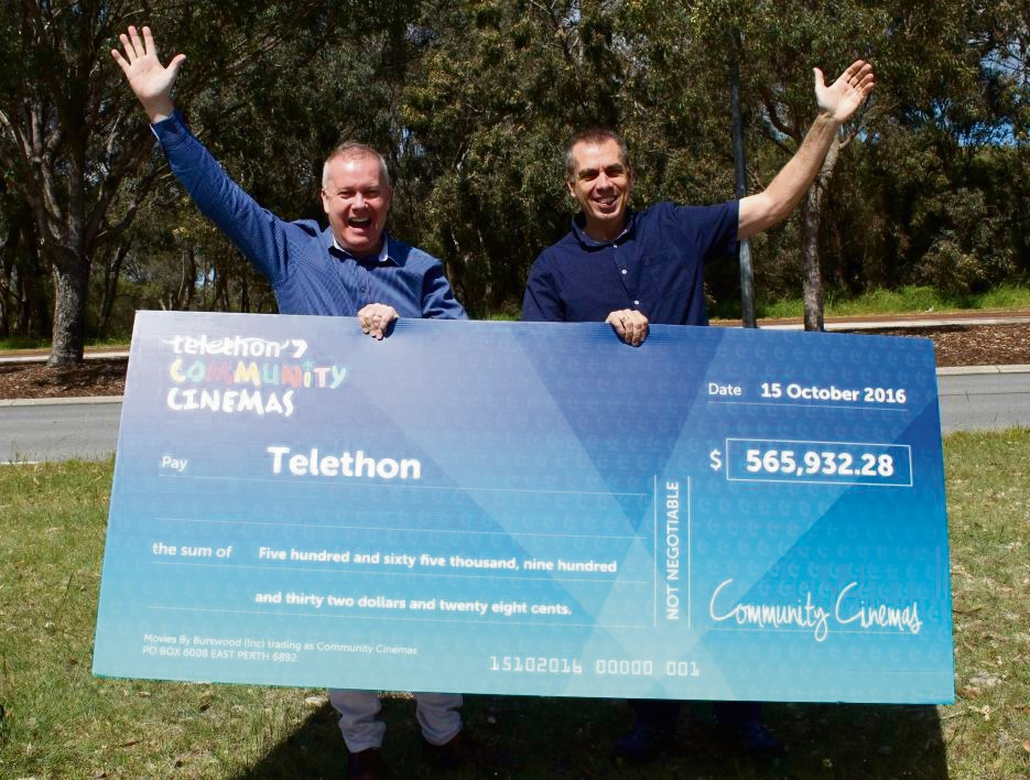 L-R Telethon CEO Steve Mummery with Ken Gibbons.