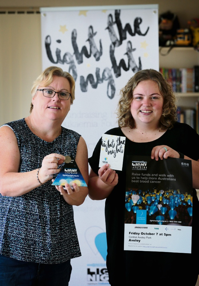 Jackie Jones of Henley Brook with her daughter Stephanie Brown of Aveley. Stephanie has organised Friday's Light the Night event at Aveley Central Park in October. Picture: David Baylis