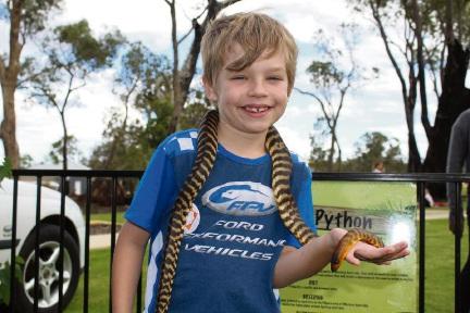 Hamish Catanzaro and a snake.