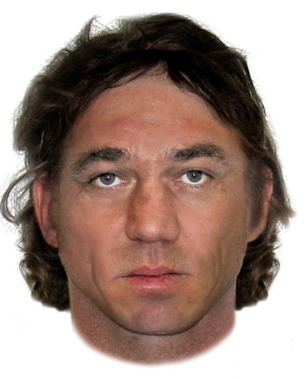Police identikit of the man.