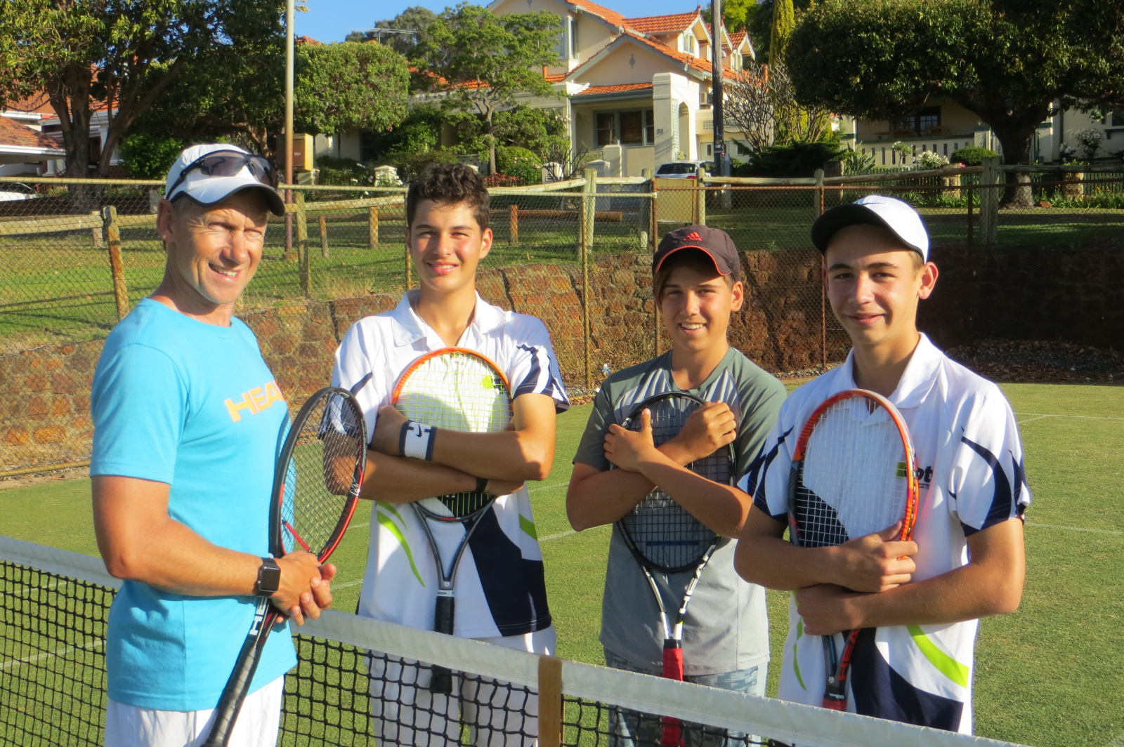 Alexander Park Tennis Club trio comprises entire State under-14s team for nationals