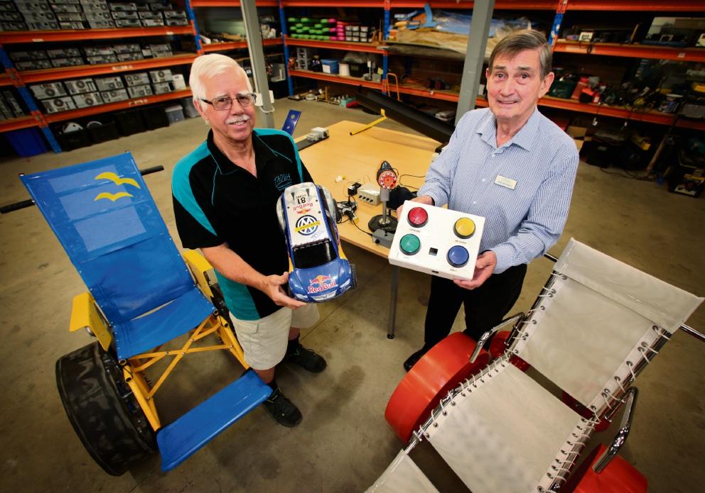 John Smith (Electronics Technician) and Bob Whitaker (CEO of TADWA). Picture: David Baylis