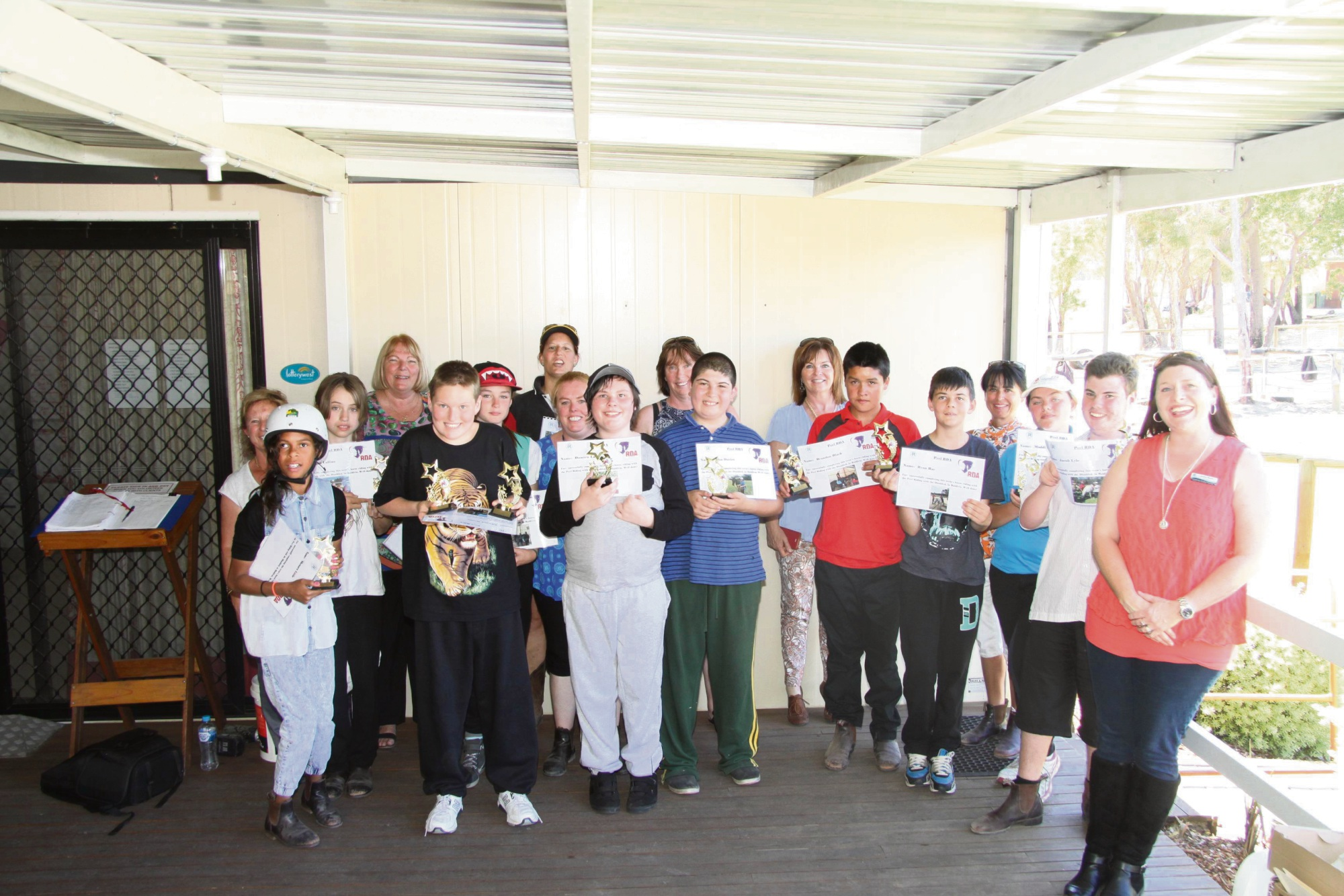 The Rockingham Senior High School Education Support Centre's horse-riding class |celebrate their successful year.
