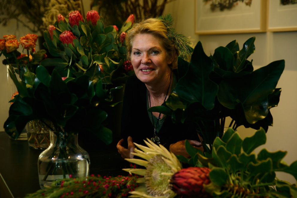 Florist Angela Broad weaving her brand of magic at State Buildings