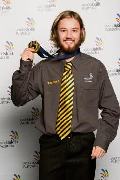 Sparkle: Jason Nesbitt with his gold medal. Inset: Mr Nesbitt's winning creation.