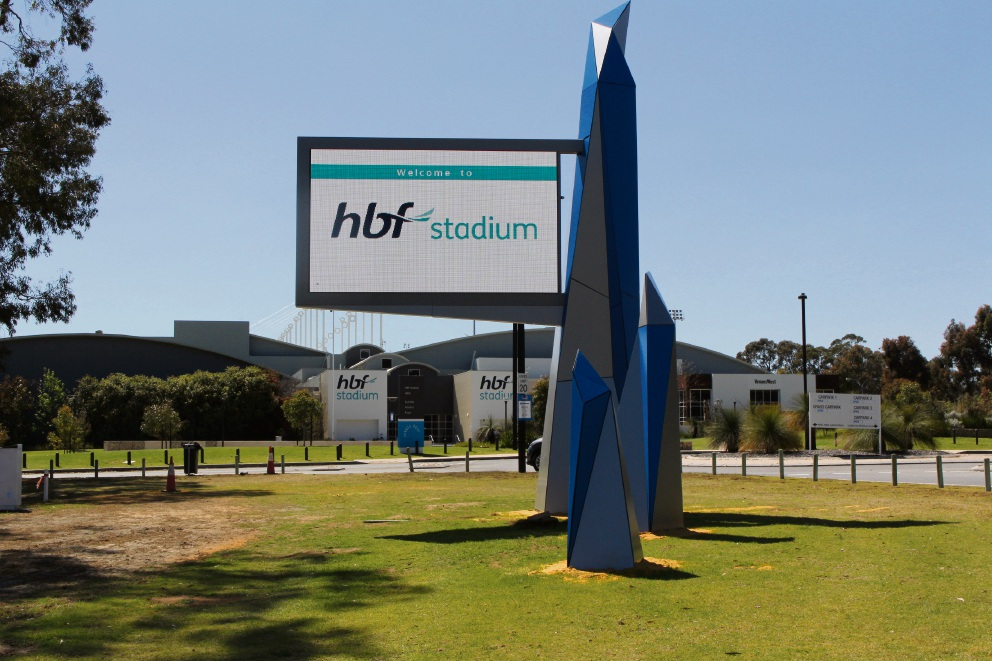 New entry statement installed at HBF Stadium