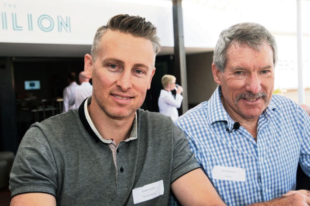Jamie Coyne and Steve Bennett. Pictures: Bruce Hunt