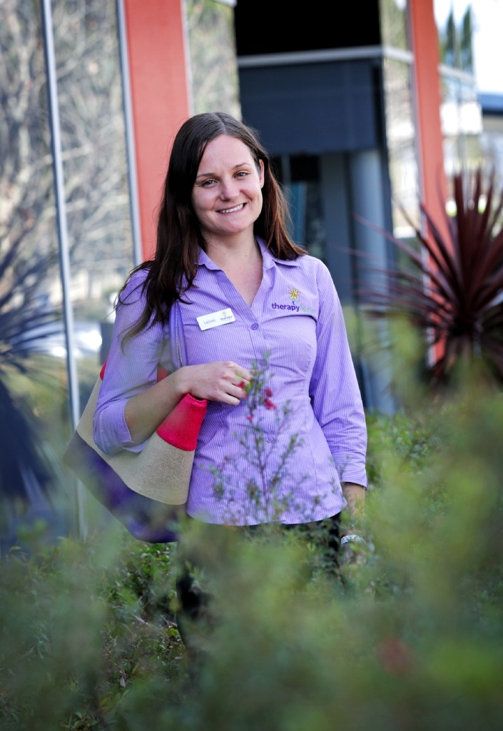 Larissa Ashton volunteered for nine months as a speech pathologist in the Bicol region of the Philippines. Picture: David Baylis        www.communitypix.com.au   d442747