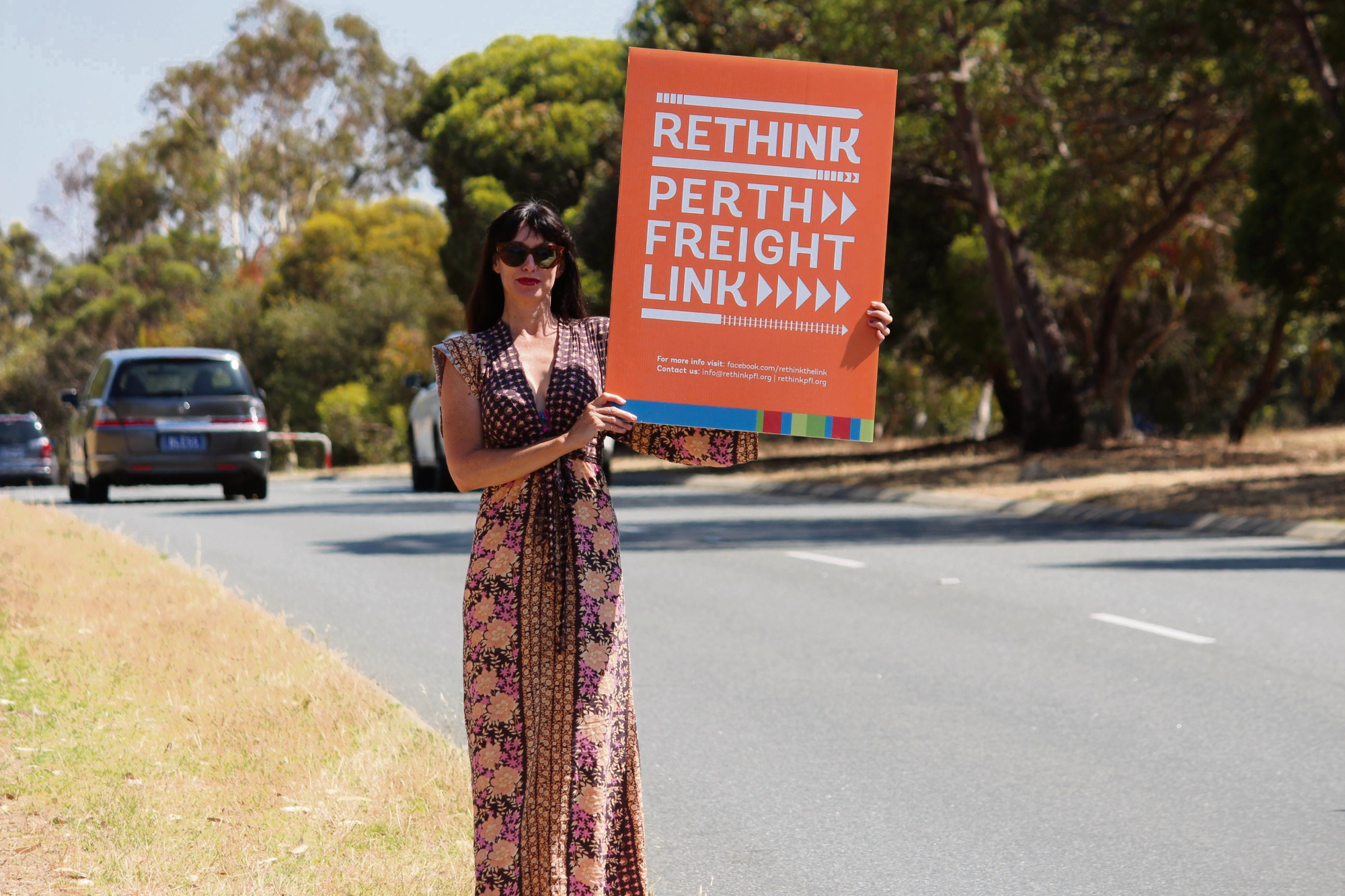 An opponent to Roe 8 on during protests. Picture: Bryce Luff