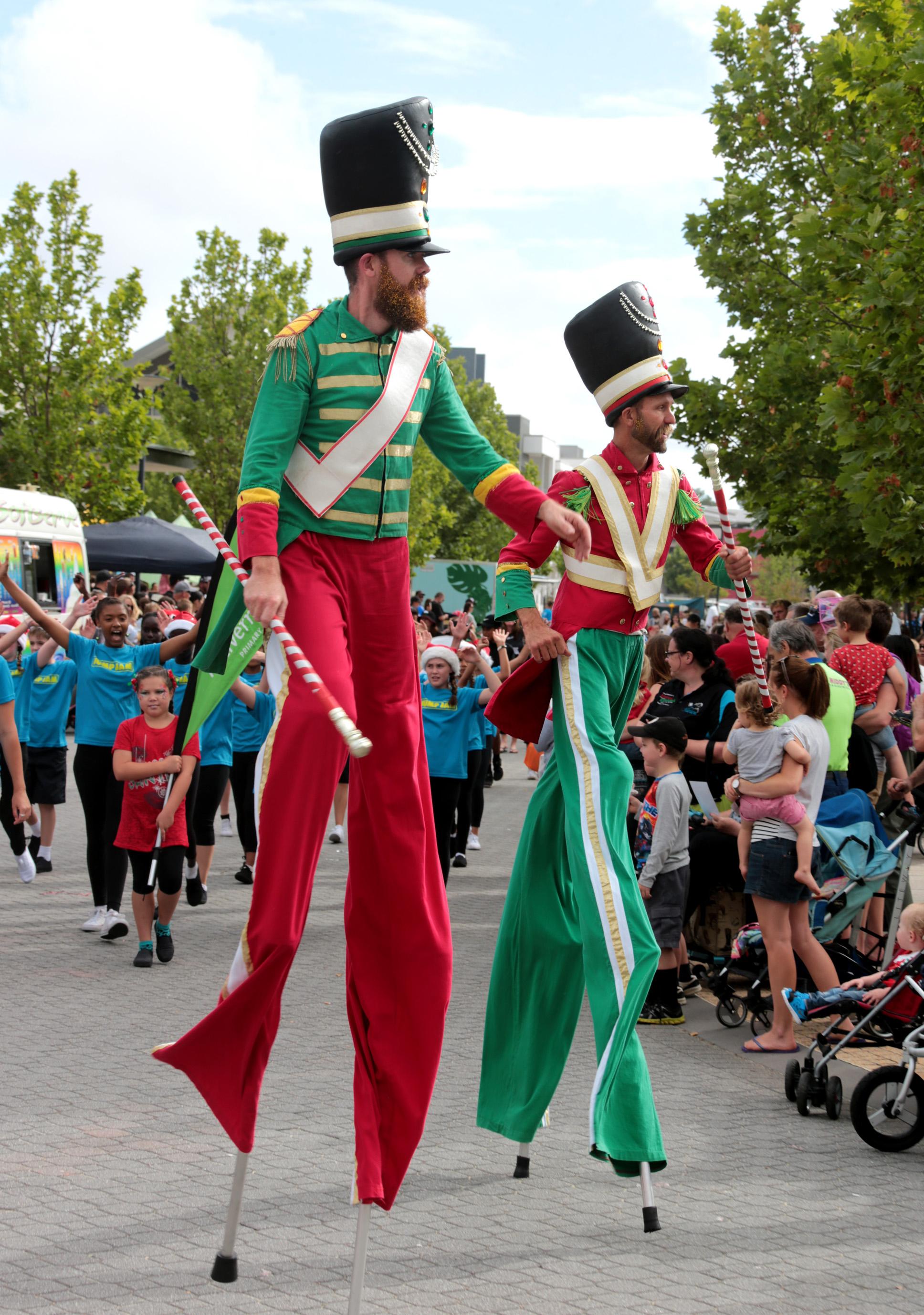 On stilts at the Elfenbrook Christmas Parade in Ellenbrook. Picture: David Baylis d463035