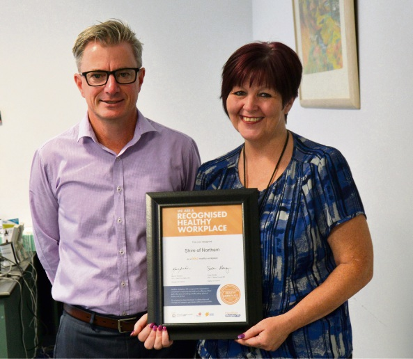 Shire of Northam wins Healthier Workplace WA Gold Award