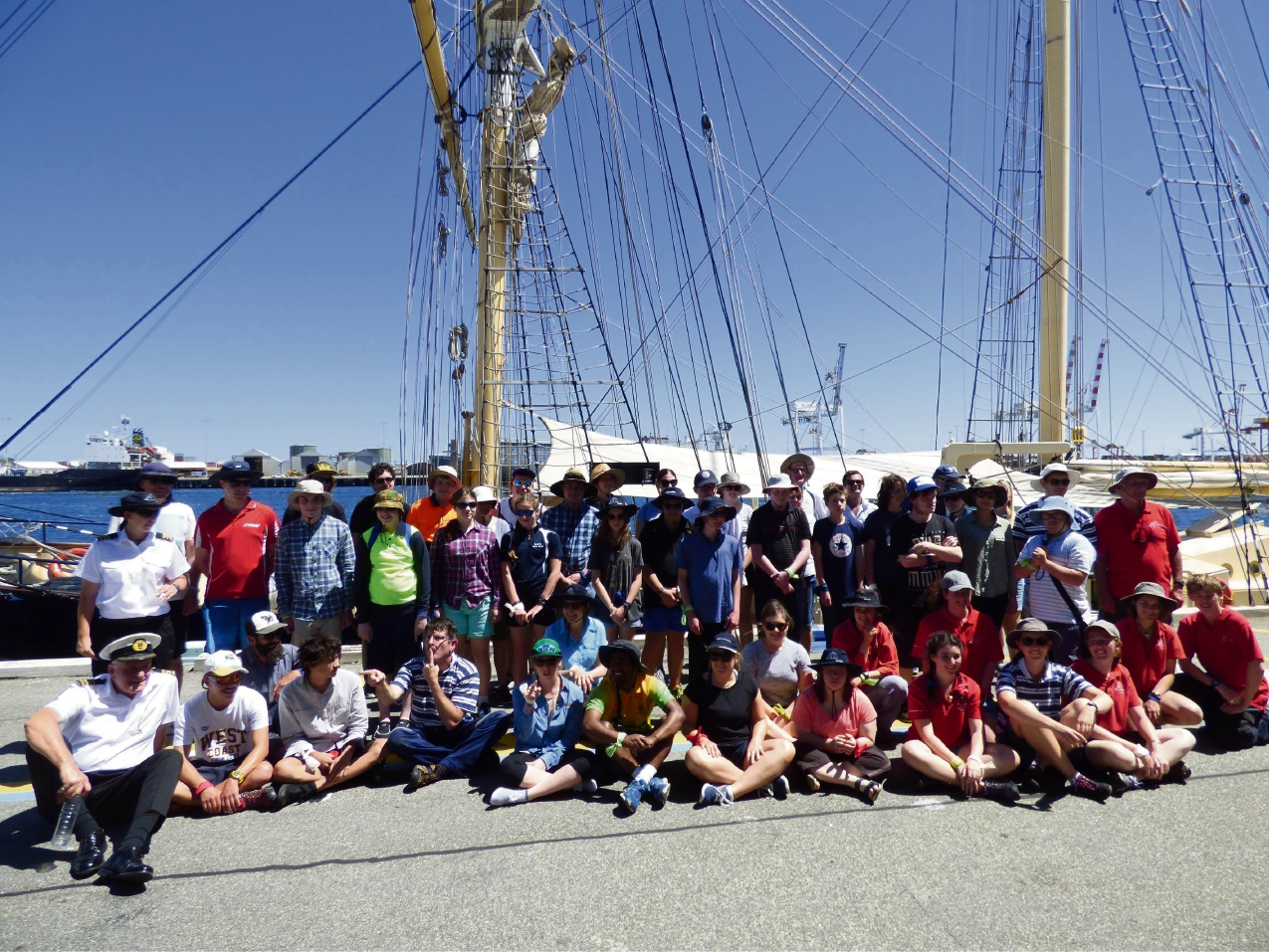 Participants before setting sail on the 2016 Leeuwin Ultimate Challenge.