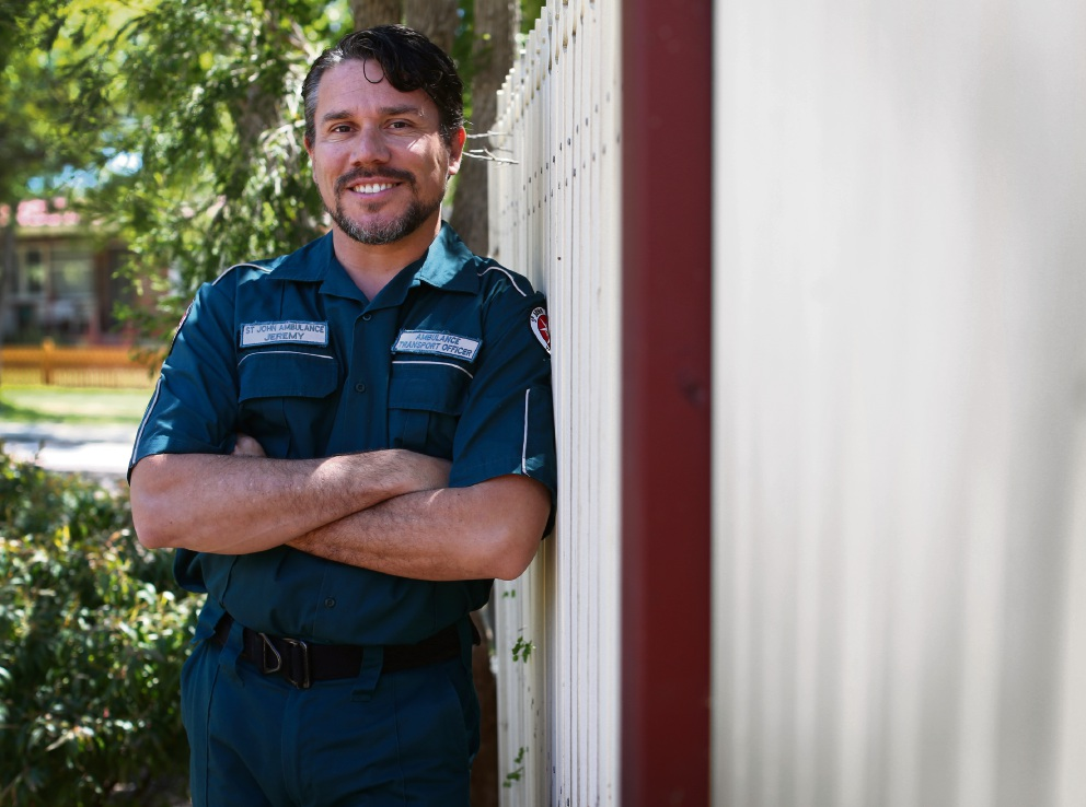 Jeremy Maitland-Smith from Coolbellup is one of the first Indigenous students to take part in the Paramedicine degree at Curtin University. He is there on a scholarship from St John Ambulance WA. Picture: Matt Jelonek