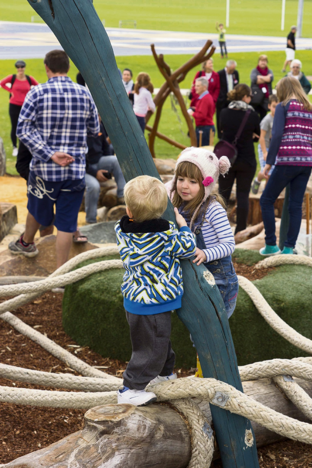 The Webber Reserve nature play initiative from the first Project Robin Hood in 2013.