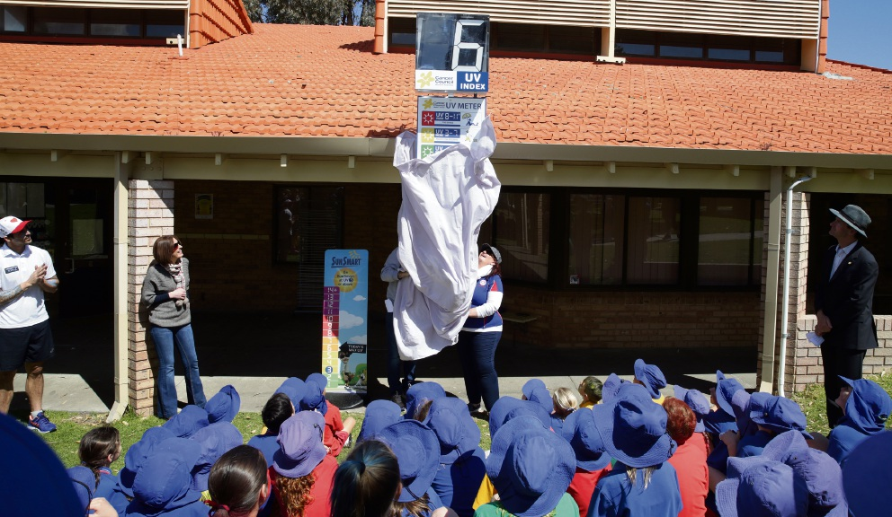 Padbury Catholic Primary students get visit from SunSmart sporting heroes
