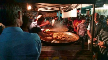 Last year's Kalamunda Night Market, with Patiumaca Paella. Picture: Chuck Thomas