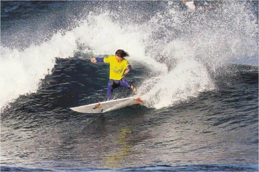 Local surfer Ace Van Peer in action.        Picture: Surfing WA/Woolacott