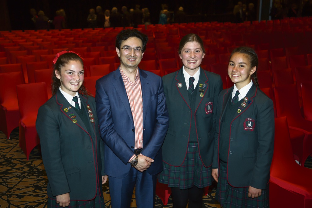 Santa Maria College students inspired by former asylum-seeker turned leading surgeon