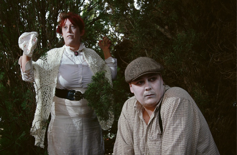 Hayley Ross as ghost Julia Miller and Kalan Stoker as ghost George Barber are part of the City of Gosnells Ghost Walks this year. Picture: Marie Nirme