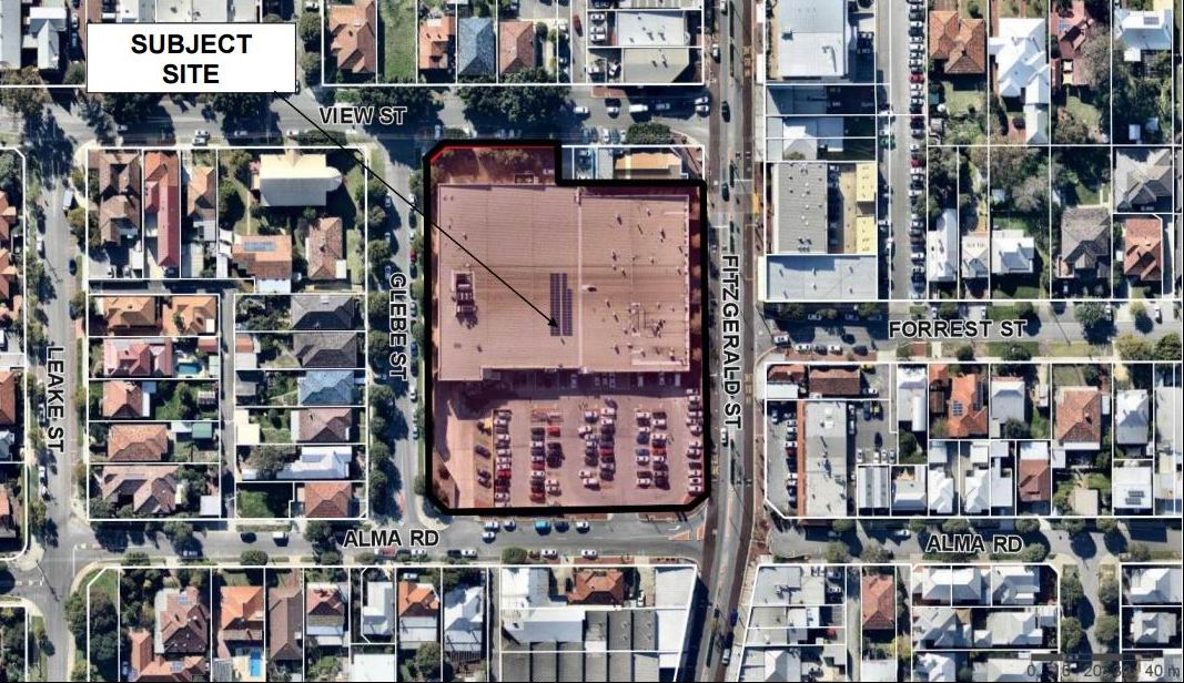 A car boot sale market is proposed for this North Perth Plaza carpark.