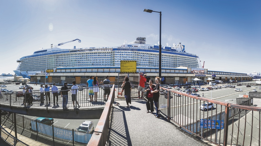 Ovation of the Seas docked in Fremantle. The cruis industry is having an impact on Fremantle development. Picture: Andrew Ritchie