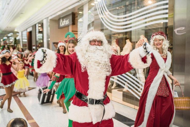 Christmas entertainment has begun at Whitford City Shopping Centre.