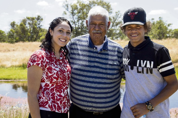 Clockwise from top left: Paddi Creevey; Lindsay Calyun and Andy Gulliver; Harry Nannup and Karl Karu; Kiara Clark Indich, Harry Nannup and Joseph |Anderson.