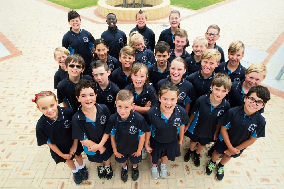 Year 4 Alkimos Primary School students. Picture: Bruce Hunt d462759