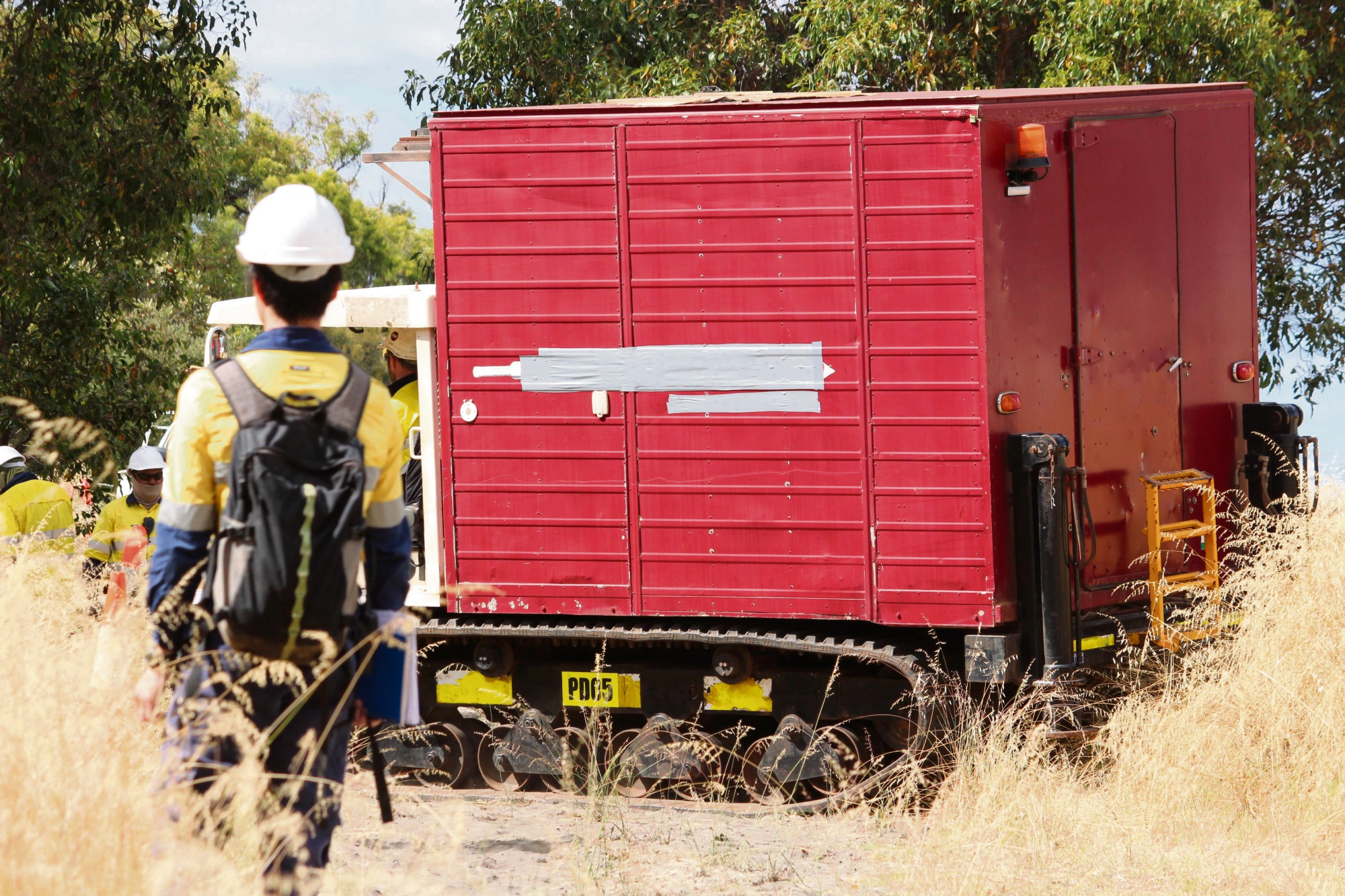 Ground-testing machinery is brought into a site just off North Lake Road. Photo: Bryce Luff