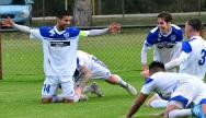 Floreat's Ludovic Boi celebrates with teammates. Picture: Brett Klucznik. Cockburn's Angel Andres celebrates. Picture: Vince Caratozzolo.