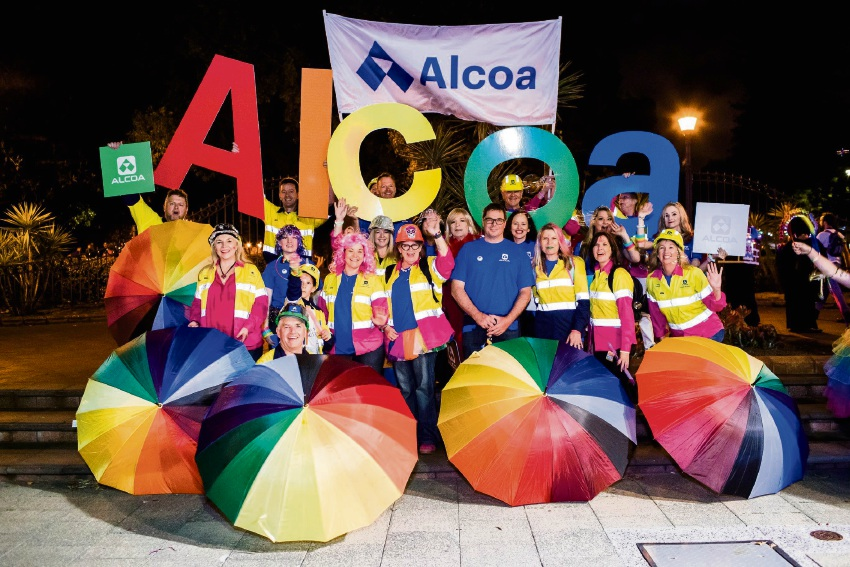 The Alcoa team were loud and proud at the WA Pride Parade in Northbridge.