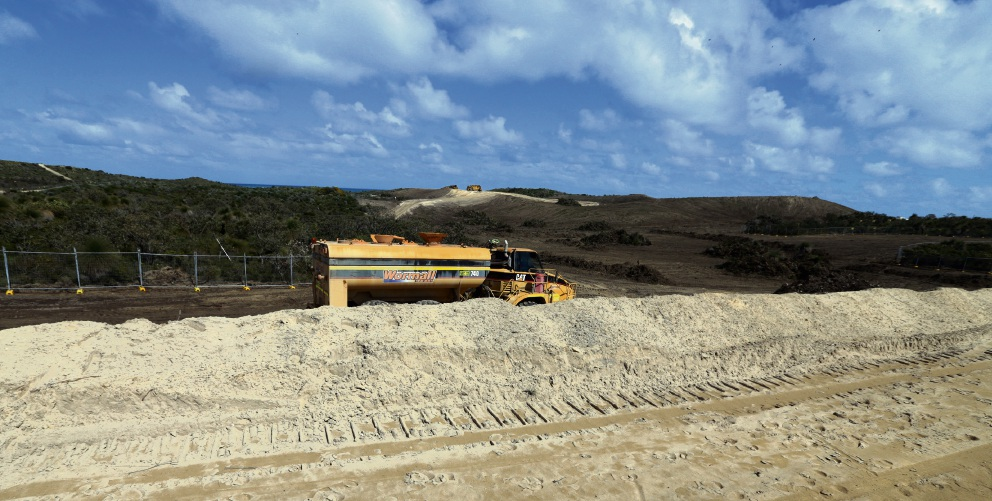 Heavy machinery is working on Jindee estate in Jindalee. Picture: Martin Kennealey.