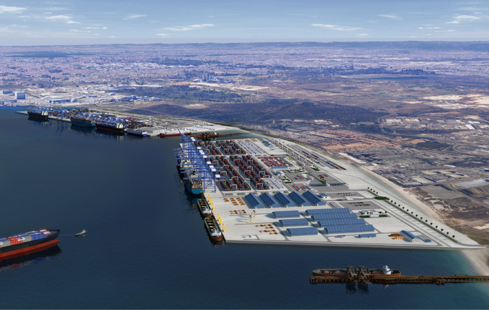 An artist's impression of what the Kwinana Outer Harbour could look like.
