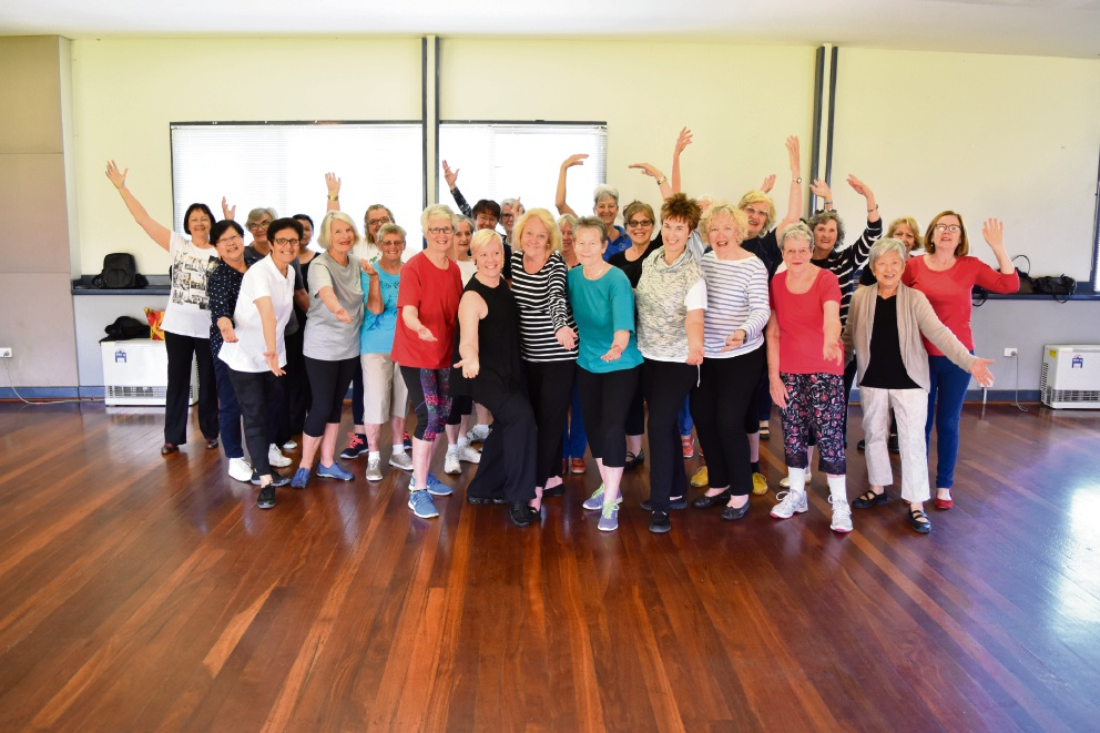 Mayor Heather Henderson joins Subiaco Seniors in a new age-friendly dance class.