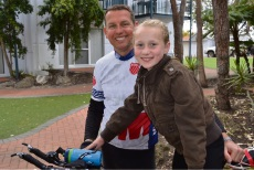 Charlotte and her uncle Peter Bolt are preparing for the Busselton Ironman competition on December 3.