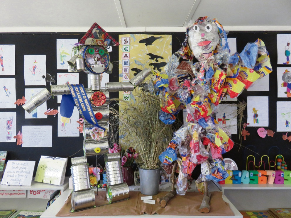 Campbell Primary School's scarecrows.