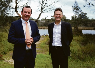 Mark McGowan and Chris Tallentire. Picture: Matt Jelonek