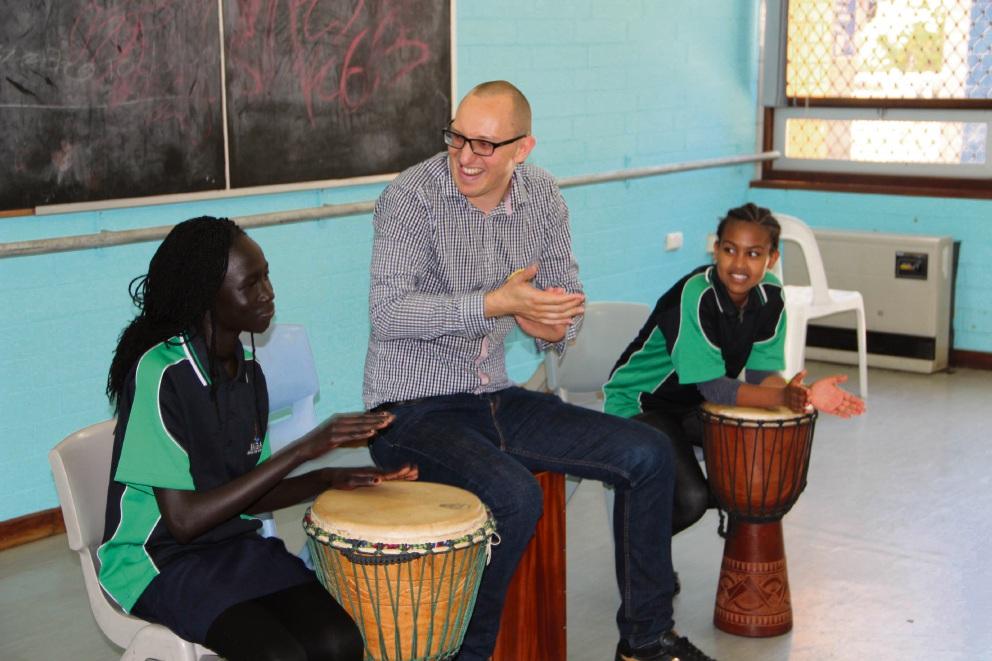 Anon Atem Kiir, Daniel Susnjar and Selamawit Meshesha.