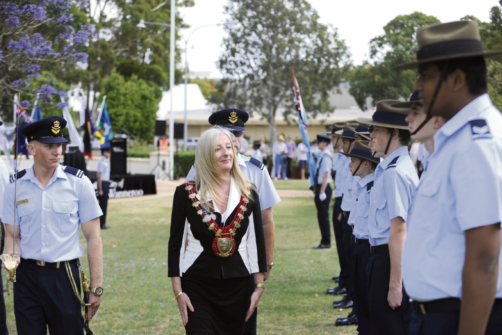 Australian Air Force cadets' march through Wanneroo highlights local link
